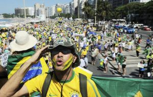 Nationwide opposition rallies are planned for Sunday and on Tuesday Rousseff supporters marched in Rio arguing attempts to bring her down was 'a coup'