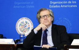 """Corruption is a crime that has devastating effects on democracy: it degrades institutions, eats away at the basis of the rule of law"" said Almagro"