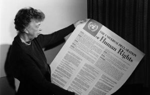 Eleanor Roosevelt joined forces at the UN with human rights champions from around the world to enshrine these freedoms in the Universal Declaration of Human Rights.