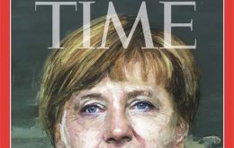 Time lauded Merkel as the indispensable player in managing the prospect of Greek bankruptcy threatening the Euro, and the migrant and refugee crisis.