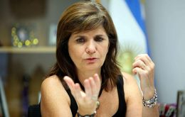 "Bullrich said that the emergency, which must be decreed by President Mauricio Macri ""will allow us to act with greater celerity in fundamental issues"""