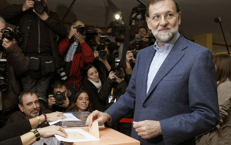 """We are about to begin a period that won't be easy,"" admitted Rajoy, who was first elected in 2011 and has tightened the reins on Spain's spendthrift economy"