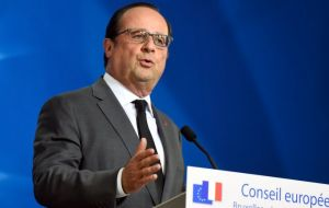 French President Francois Hollande said there could be adjustments over PM Cameron's demands but EU rules and principles must be respected.