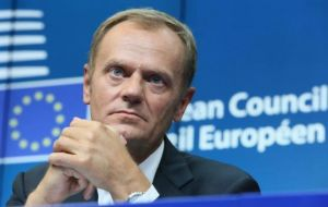 "EC president Donald Tusk said the talks were ""substantive and constructive"" and represented a ""make or break moment""."