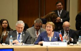 """Since its beginnings Mercosur has benefited Chile quite a bit; 48% of Chile's foreign investment is in countries belonging to Mercosur"" said Bachelet"