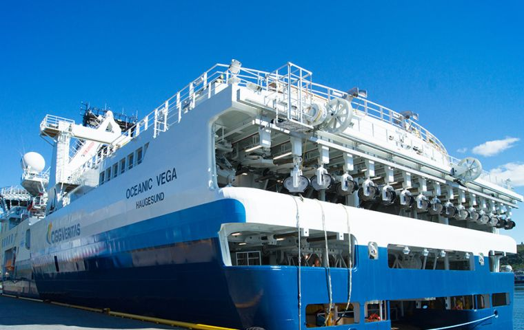CGG is deploying its specialized seismic vessel, the Oceanic Vega, to acquire the 14 500 km² 3D seismic survey.