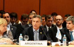 """We haven't done enough. We don't want a two-speed Mercosur. It's time for us to step on the gas,"" Macri said."