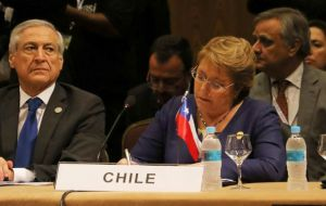 Chilean President Michelle Bachelet said she could serve as a bridge between the Pacific Alliance and Mercosur