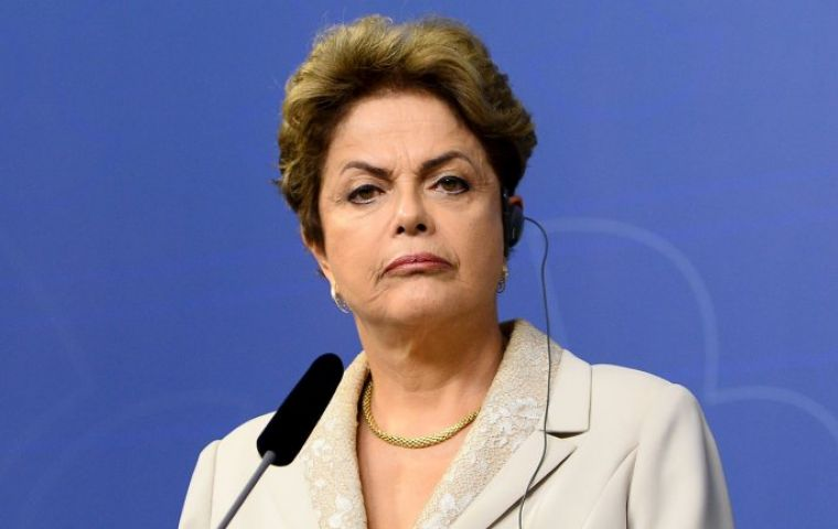 Time is running on president Rousseff's side since the Supreme Court entered into recess this week and Congress goes on vacation on Wednesday.