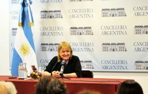 Malcorra said that all of the foreign ministers approved of the highlighting of human rights as central to Argentina's foreign policy agenda