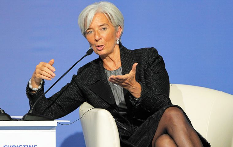 """The Fed is treading a tightrope: normalizing interest rates, while at the same time seeking to avert any risk of disturbance on the financial markets,"" Lagarde said."