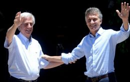 Vazquez thanked Macri for making Uruguay his first overseas country visit since taking office last 10 December.