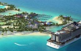 MSC Cruises announced they will be building the largest island development by any cruise line. With US$200 million it will create a private island in  Bahamas