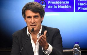 "Prat Gay said government seeks to ""subsidy those who really need it,"" in reference to a subsidy scheme to utility rates imposed by Cristina Fernandez administration"