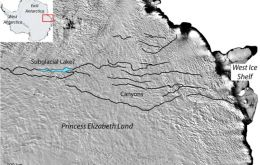 If confirmed by a proper geophysical survey - now under way - the winding canyon network would be over 1,000km long and in places as much as 1km deep.