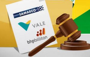 Samarco, which runs the mine, is a joint venture between Vale and Australia's BHP Billiton, the world's largest mining firm.