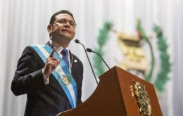 """What I want, as do all Guatemalans, is that justice be done -- but justice, not revenge,"" Jimmy Morales said during a military ceremony"