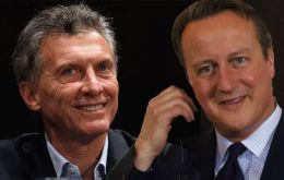 PM David Cameron congratulated Macri on his election victory and the two leaders according to Argentine sources, spoke on the phone for several minutes.