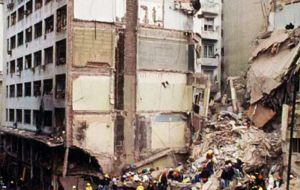 The bombing at the Jewish community centre, which took place in 1994, left 85 dead and wounded more than 300.
