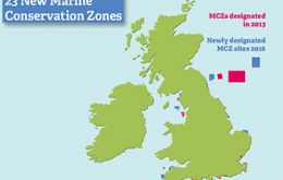 The new MCZs will cover areas from as far north as Farnes East off the coast of Northumberland down to Land's End in the South West
