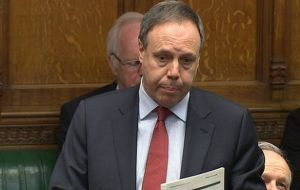 "MP Dodds asked Cameron to reiterate the ""unconditional and unequivocal support"" for the Falklands' people ""to their inalienable right to self-determination"""