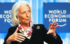 IMF's managing director Lagarde censured Argentina for providing unreliable numbers in 2013.
