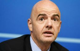 "Infantino said he was ""delighted"" to secure UNCAF's backing. ""Thank you @UNCAF for the support. Together we can take FIFA forward,"" he tweeted"
