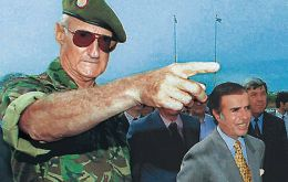 Balza was head of the Army when Carlos Menem was president in the nineties and later was ambassador to Colombia and Costa Rica under the Kirchner couple