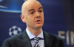 """I am honored to have the unanimous support of my colleagues at CONMEBOL and I'd like to thank them"", Infantino said in a statement."