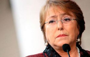 """I want to tell you from the heart that these have been difficult and very painful times for me and my family,"" a tearful-sounding Bachelet said after the ruling."