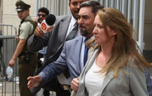 The court in Rancagua banned Natalia Compagnon from leaving the country and ordered her to check in with police each month for a year while judges investigate.
