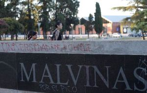 "The Chileans are accused of damages to ""public property"" for having defaced, scribbled with graffiti, torn benches and perpetrated other offensive actions"