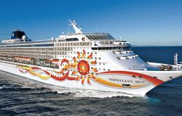 Norwegian Sun is expected to call at Punta Arenas on Thursday.