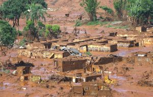 Brazil sued Samarco after the dam at its mine burst, killing at least 17 people and creating a wave that flooded hundreds of kilometers of river valleys