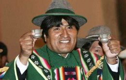 Morales, an indigenous Aymara and former coca leaf producer, took office in January 2006 and the president's current term ends in 2020.