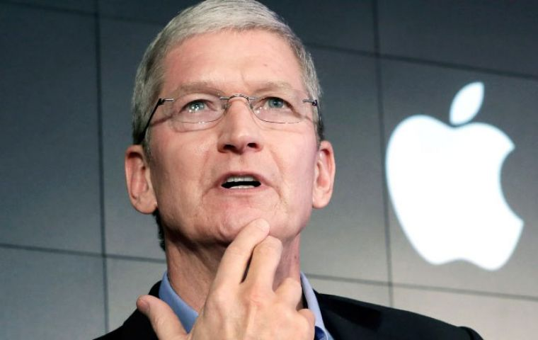 "Apple's CEO Tim Cook said the case ""is about much more than a single phone or a single investigation"", it risks a precedent that ""threatens everyone's civil liberties"""