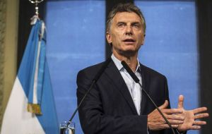 "Without giving up at all the Malvinas claim, we are willing to sit and dialogue and return to relations in other fields, such as the UK has with Spain"", said Macri"