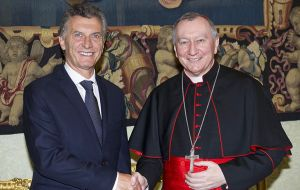 """We also talked with Vatican Secretary of State, Cardinal Pietro Parolin, who wishes to accompany his Holiness, soon, since he does not know Argentina""."