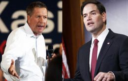 Republicans and allies hope to unleash a TV campaign aimed at battering Trump, hoping that could help Kasich win Ohio and Rubio his home state of Florida