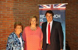 UK ambassador Lyster-Binns, with Education Minister Maria Julia Muñoz, and the head of the Education Training Council (CFE) Ana Lopater in Maldonado