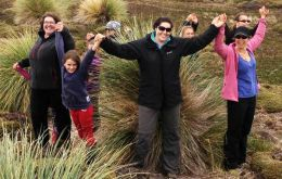 Falkland Islanders celebrate the conservation plant program (Pic Falklands Conservation)