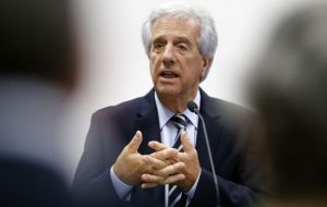 Although Uruguay currently holds the Mercosur rotating chair, the change of focus in Argentina has been crucial. Vazquez announced a trip to Brussels next month