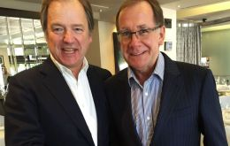 Hugo Swire with New Zealand Foreign Minister Murray McCully
