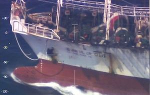 "The release calls on Argentina to immediately investigate the incident to ensure the ""security and legal interests"" of Chinese fishing vessels"