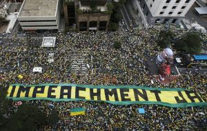 But PT's nationwide show of force was insignificant compared to the over three million that turned out on Sunday calling for Rousseff's ouster.