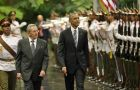 """This is a new day,"" Obama said, standing alongside Castro after their meeting at Havana's Palace of the Revolution."