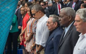 "Obama and Castro pay respect to Brussels victims. ""This is yet another reminder that the world must unite, we must be together"", said the US president"