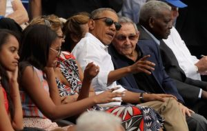 Castro sat alongside the Obama family behind home plate. Likewise he was at the airport to say goodbye to Obama and were seen chatting in relaxed fashion