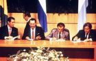 The Asuncion Treaty, founding charter of Mercosur was passed on 26 March 1991, by the original founding members, Argentina, Brazil, Paraguay and Uruguay