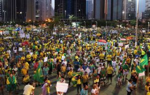 Thursday night thousands in Sao Paulo marched in support of Rousseff. Organizers said about 30,000 people joined in, but police estimated 17,000.